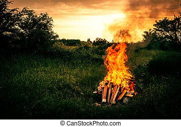 Bonfire Landschaft