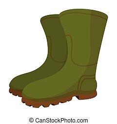 Boots Cartoon Ikone.