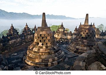 Borobudur Tempel. Yogyakarta, Java, Indonesien.