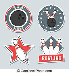 Bowling-Etiketten