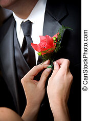 Bräutigams Hochzeitsblume
