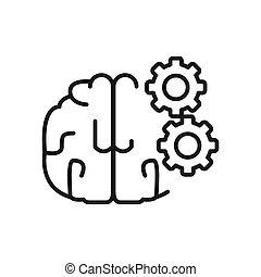 Brain Process Illustration Design.
