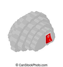 brains., abbildung, vektor, aus, switch., gehirn