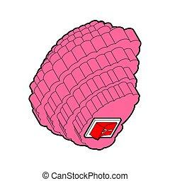 brains., abbildung, vektor, switch., gehirn, included
