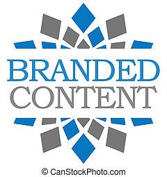 Branded content blue grau squares.