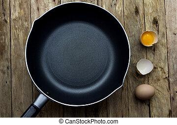 Brat Eier vorbereiten.