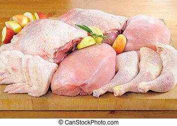 Bratenfleisch auf dem Küchenbrett