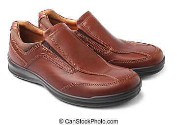 Braune Schuhe.