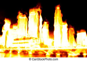 Brennende Stadtapokalypse