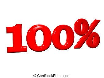 briefe, prozent, hintergrund, 100, weiß rot