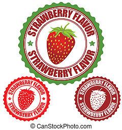 briefmarke, erdbeer, geschmack