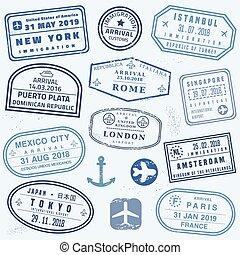 briefmarken, neuheit, reisepaß