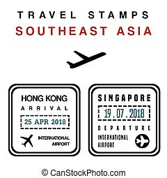 briefmarken, reisepaß