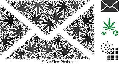 Briefumschlagkomposition von Marihuana