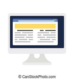 Browser-Seite Vorlage auf dem Bildschirm.