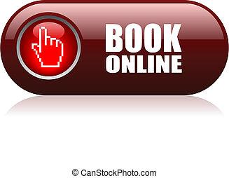 Buch online Vektorknopf