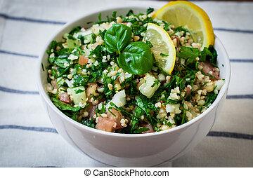 bulgur, tabbouleh, salat