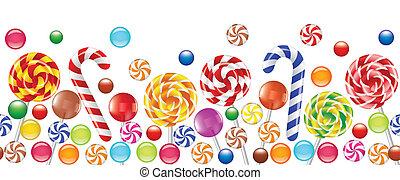 bunte, süßigkeiten, fruechte, bonbon, lutscher