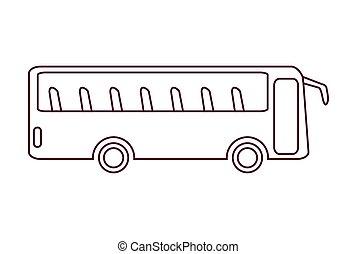 bus, ikone, wohnung