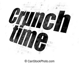 Business concept: Crunch time on digital background.