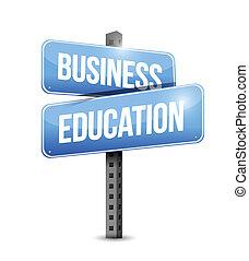 Business education road sign Illustration Design.