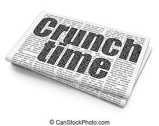 Business-Konzept: Crunch Time auf Zeitungshintergrund.