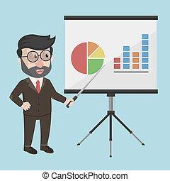 Business Man Präsentation.