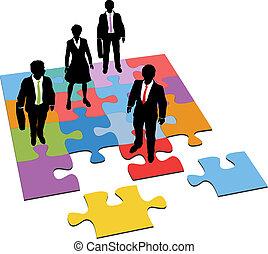 Business people Lösung Management Ressourcen Rätsel.