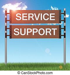 Business Support-Konzeptzeichen.