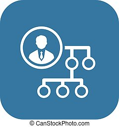 Business-Verbindungs-Icon. Flat Design.
