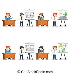 Businessman-Präsentation setzt Illustration Design.