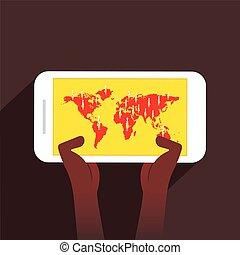 Businessmen globales Kommunikationskonzept Design.