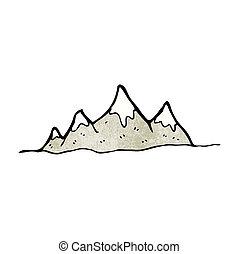 Cartoon Bergreichweite