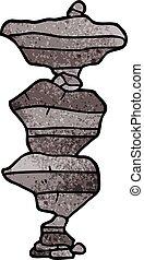 Cartoon doodle Boulders.