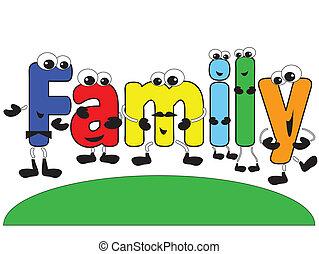 Cartoon-Familie