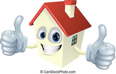 Cartoon House Maskottchen