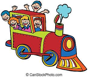 Cartoon-Train-Farbe