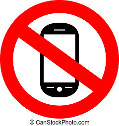 cellphone, nein, zeichen