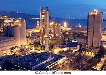 Cement Plant, Concrete oder Zementfabrik, Schwerindustrie oder Bauindustrie.