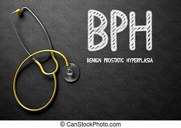 Chalkboard mit BPH-Konzept. 3D Illustration.