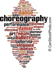 Choreographie-Wortwolke