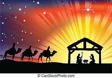 Christliche Weihnachtsfest-Szene