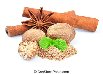 Cinnamon, Anise, Muskat.