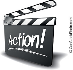 Clapper Board Action.