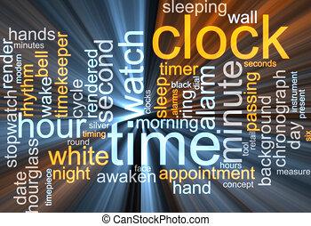 """""""Clock Word Cloud"""" leuchtet"""