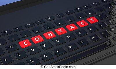 closeup, schwarz, kontakt, wort, tastatur