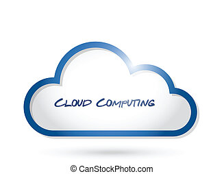 Cloud Computing Illustration Design.