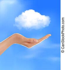 Cloud Computing Konzept.