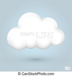 Cloud glossy Icon