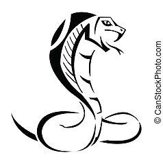 Cobra Vektor illustriert